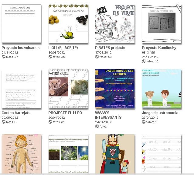GLORIA P. : molts projectes, contes, fitxes, dites...