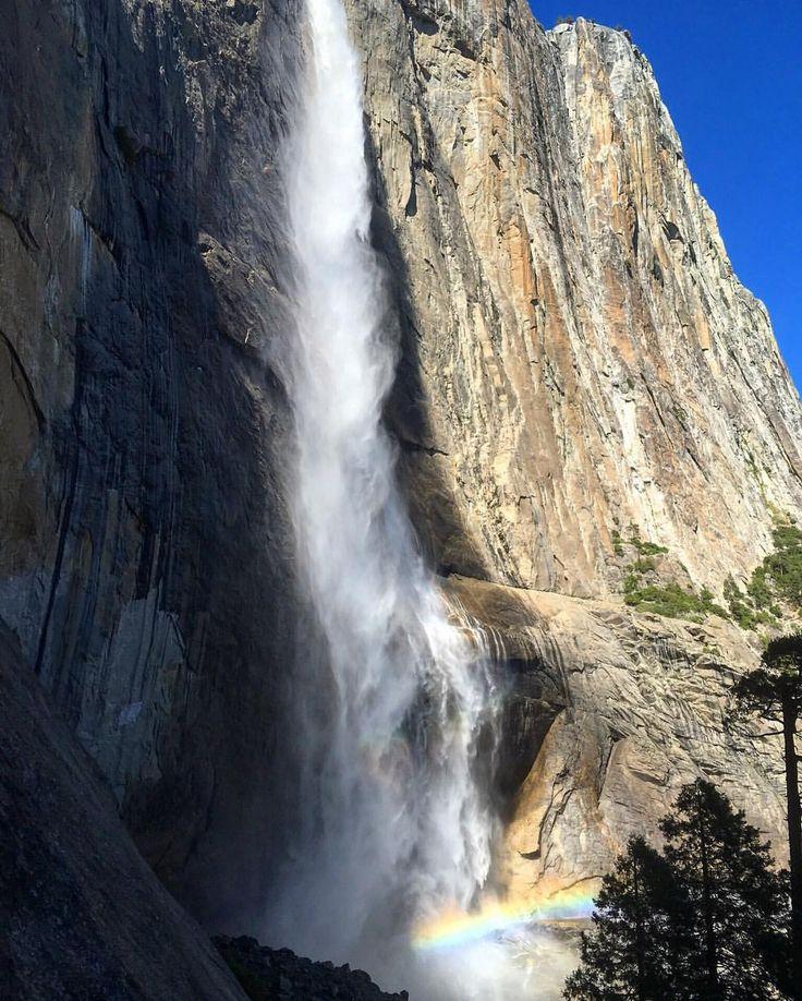 Upper Yosemite Falls, the equivalent of climbing the Empire State Building stairs twice. #yosemite #yosemitenationalpark #yosemitefalls