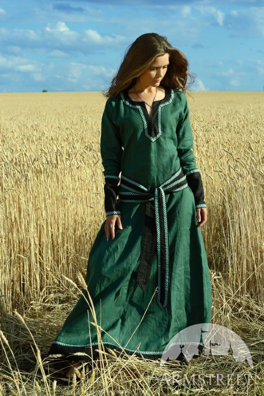 Medieval Long Flax Linen Lady Tunicsource Http