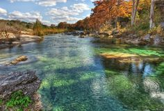 The Emerald pools of the Frio River in Texas