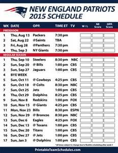 new england patriots schedule 2015-16 - Bing Images