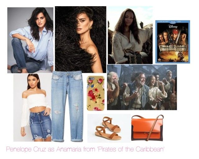 """""""Disney dreamcast: Penélope Cruz as Anamaria from 'Pirates of the Caribbean: The curse of the black pearl.'"""" by sarah-m-smith ❤ liked on Polyvore featuring AnaMaria, WearAll, Marni and Dolce&Gabbana"""