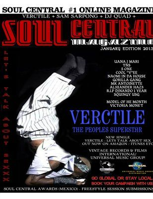 Other Publications: Soul Central Magazine January 2015, $15.00 from MagCloud