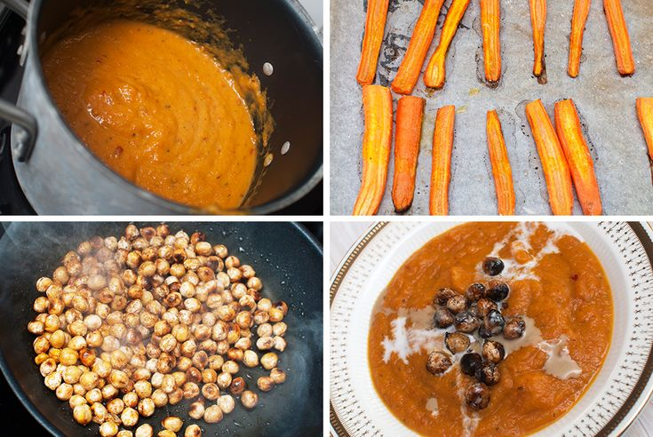 GULROTSUPPE: Hjemmelagde supper er så mye bedre enn pulversupper.