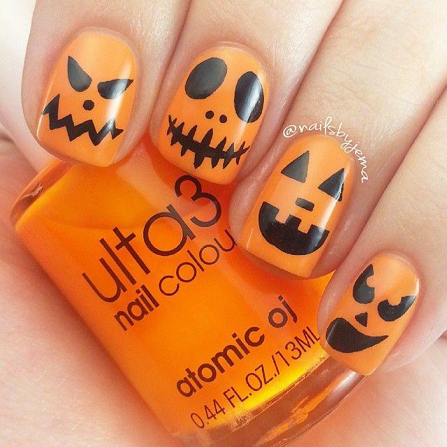 Instagram media nailsbyjema - halloween #nail #nails #nailart - Best 25+ Pumpkin Nail Art Ideas On Pinterest Fall Nail Art