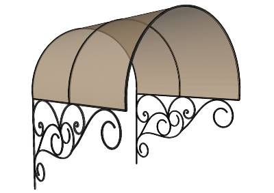 Wrought Iron Roof. Entry Porch Roof. Great look!  Visit stonecountyironworks.com and let us bring your dream to life!