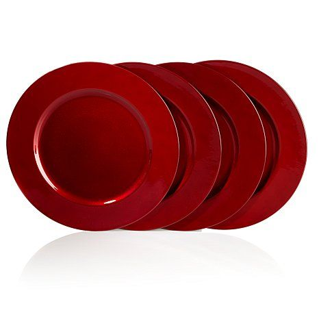Joy Mangano 4pk Decorative 13  Metallic Charger Plates  sc 1 st  Pinterest & 188 best Placemats u0026 Charger Plates images on Pinterest | Charger ...