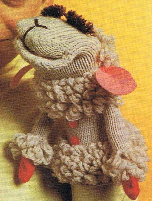 Lamb Chop Glove Puppet Knitting and Crochet Pattern PDF ...