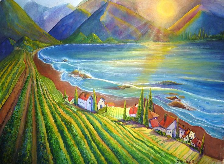 1000 Images About Vineyards Amp Wine Country Art On Pinterest Vineyard Oil On Canvas And Acrylics