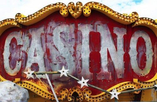 Vintage casino sign