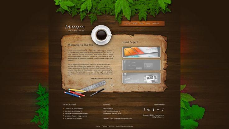 Photoshop Tutorial Web Design Creative Portfolio With Coffee Cup