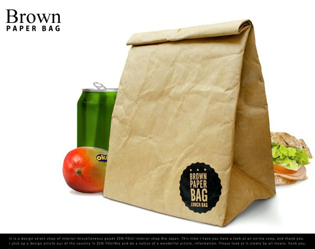 brown paper bag / ブラウン ペーパー バッグLuckies / ラッキーズお弁当 袋 保冷バッグ 紙袋 タイペック DETAIL  【あす楽対応_東海】【楽天市場】