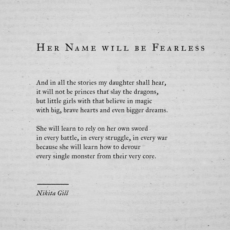 """Her Name Will Be Fearless"" @nikita_gill"