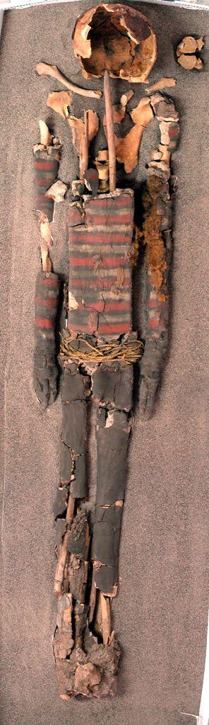 Momias Chinchorro, estructura arcilla y palo