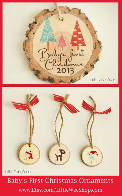 Baby first Christmas Ornaments by LittleWeeShop