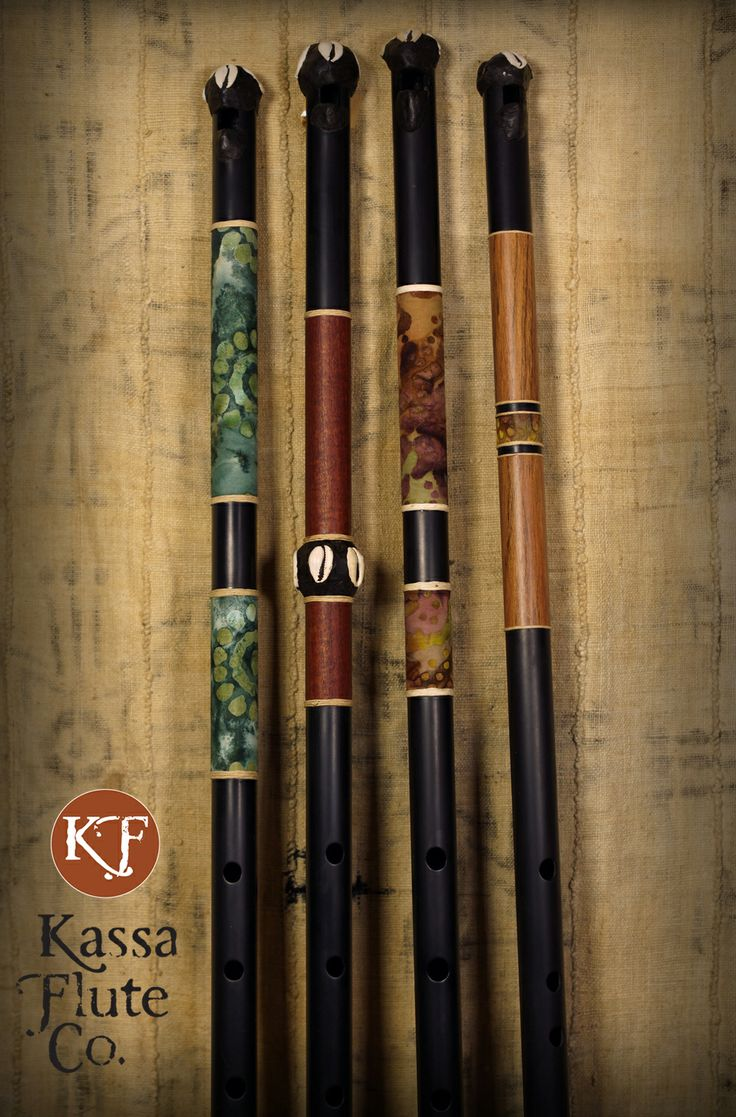 New custom-made Fulani-stlye flutes made by Dave Kobrenski, at kassaflutes.com