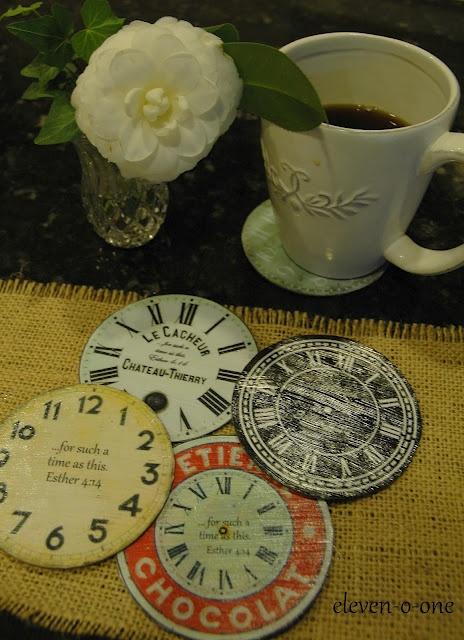 clock faces on CDs tuto