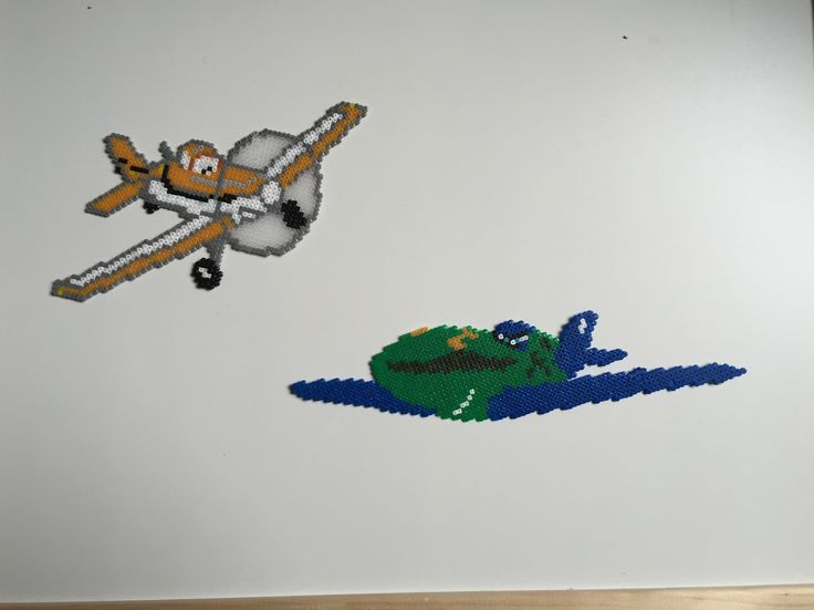 Hama Mini beads, Disney Planes Dusty & Rip Slinger by Kirppinen