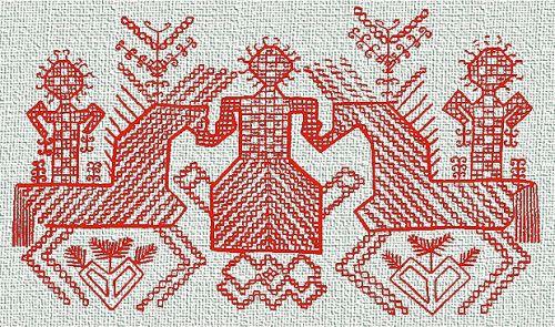 Slav Goddess Embroidery