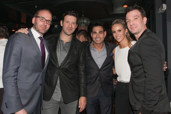 "Tony Romo Photos Photos - (L-R) Chad Griffin, Tony Romo, Eric Podwall, Candice Crawford, and JC Chasez attend ""The Evening Before""- a pre-White House Correspondents' Dinner party hosted by Eric Podwall and Spotify at Chaplin's Restaurant on April 24, 2015 in Washington, DC. - Eric Podwall And Spotify Host The Evening Before The White House Correspondents' Dinner"