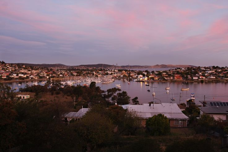 Looking of Rosny Bay Tasmania