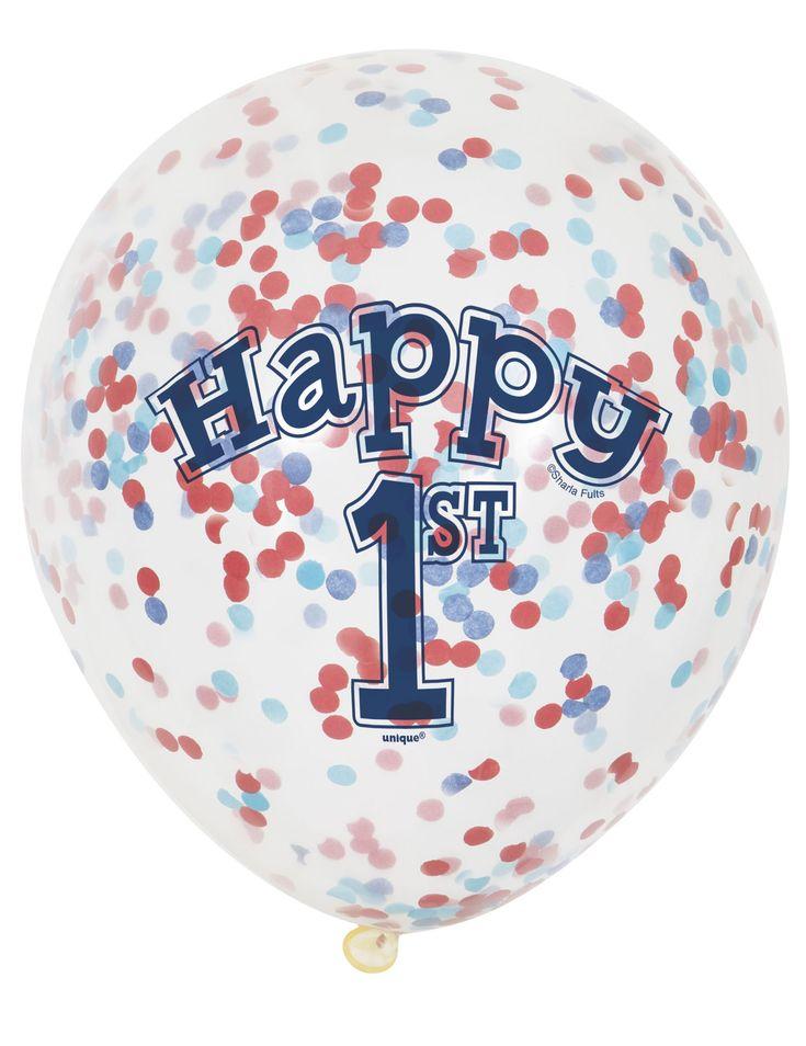 6 palloncini 1 anno piccolo marinaio con coriandoli su VegaooParty, negozio di articoli per feste. Scopri il maggior catalogo di addobbi e decorazioni per feste del web,  sempre al miglior prezzo!