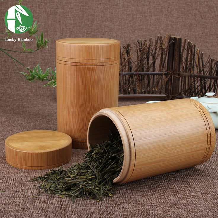 Handmade tea box bamboo Storage box tea canister Lid seal Kitchen Storage jars accessories spice box case organizer - € 5,23 - 10,19