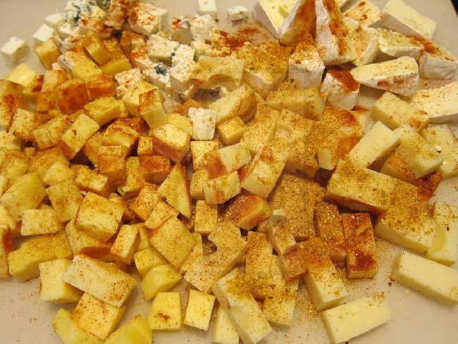 Nakladané syry s Gyros koreninami, recept