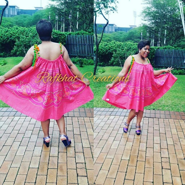Shweshwe Ithemba Dress by Nyamie at Rafkhat Creations