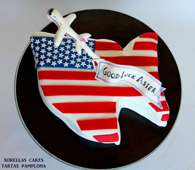 SORELLAS CAKES TARTAS PAMPLONA : Tarta Bandera EEUU