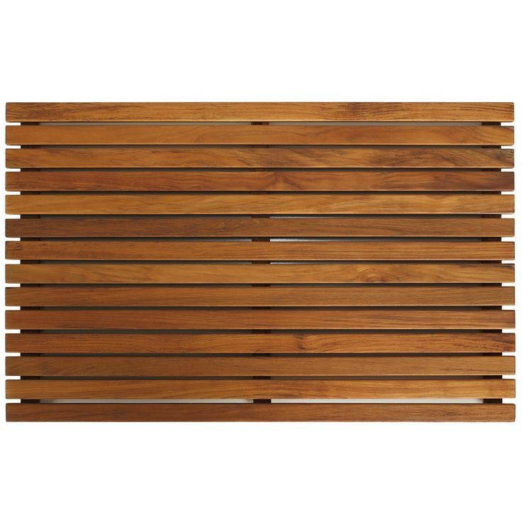 Escape from the ordinary with this borderless Zen teak mat, bringing the feel of a tranquil spa right into your home. Made of responsibly harvested solid teak wood, this slatted mat is naturally resistant to mold and mildew.