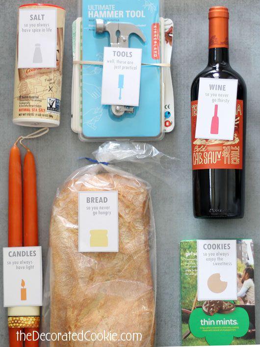 housewarming gift idea with FREE printable