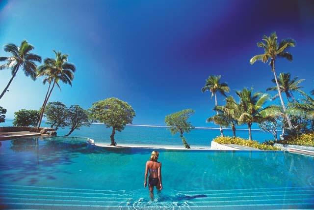 Coral View Pool in #Fiji #Yanuca at the Shangri-La Resort and Spa
