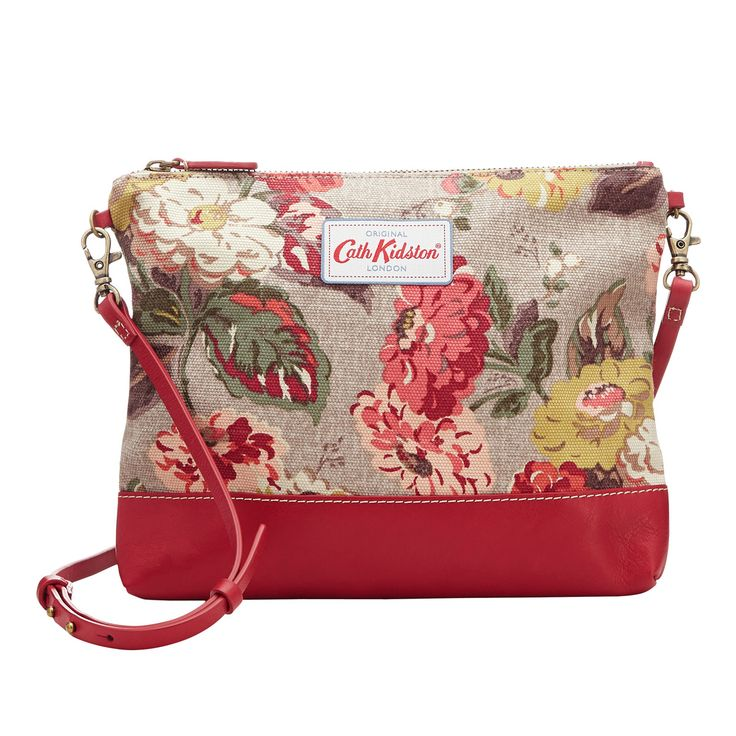 NEW | Autumn Bloom Small Cross Body Canvas & Leather Bag | Cath Kidston