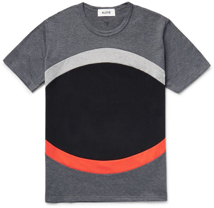 Aloye Panelled Colour-Block Cotton-Jersey T-Shirt