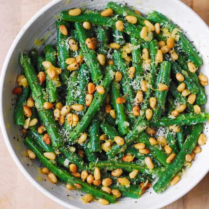 Judías Verdes Con Piñones Judía Verde Platos De Carne Recetas Saludables
