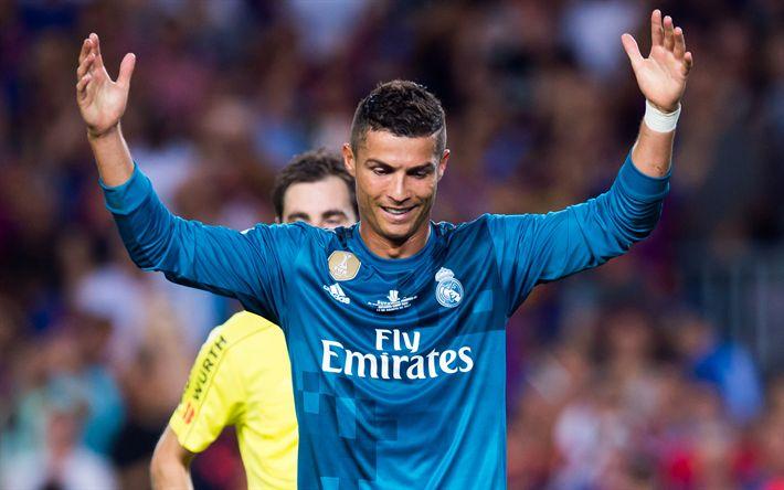 Download imagens Cristiano Ronaldo, O Real Madrid, futebol, Espanha, La Liga, Futebolista português