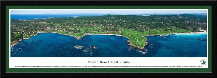 Pebble Beach Panoramic Picture Framed