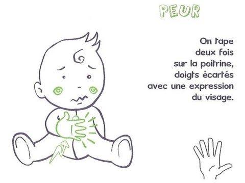 signe avec bébé PEUR