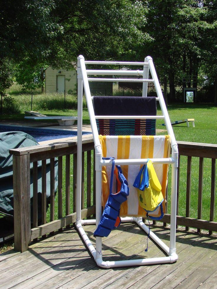 Pool Towel Storage Ideas pool towel storage image examplary pool tower storage best storage ideas Pvc Pipe Towel Holder On Pinterest Pvc Pool Towel Holder Things I Want To