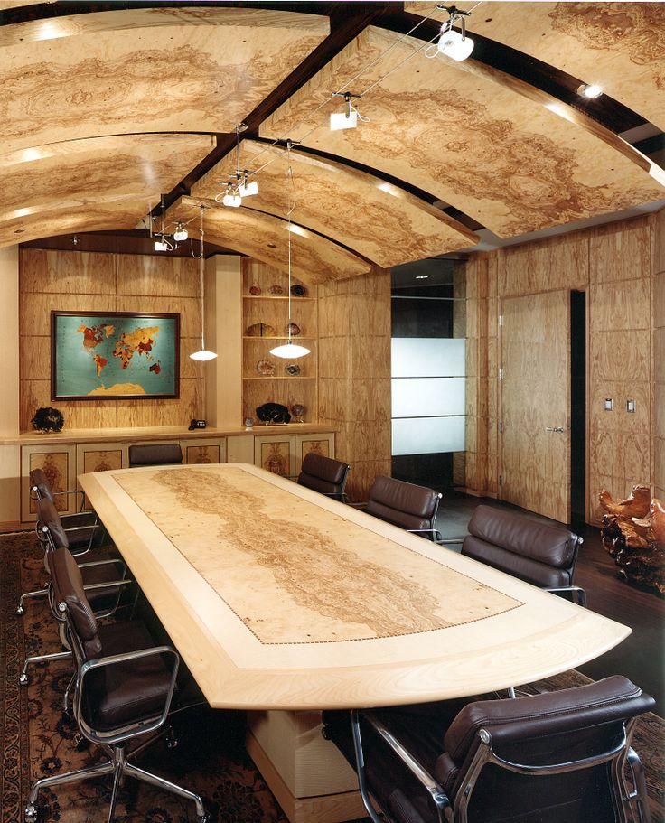 Board Room in Olive Ash Burl, Flat Cut Olive Ash and Figured Quarter Cut Ash #ash #oliveash #oliveashburl #ashburl #veneer #woodveneer #bohlke