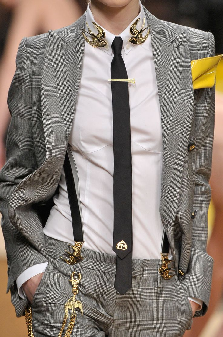 Gray Suit with Bird Acessories