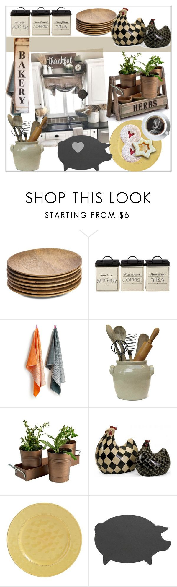 """""""Cottage Bakery"""" by pat912 ❤ liked on Polyvore featuring NKUKU, HAY, Artland, Home Decorators Collection, Pier 1 Imports, Crate and Barrel, kitchen, Home, bakery and polyvoreeditorial"""
