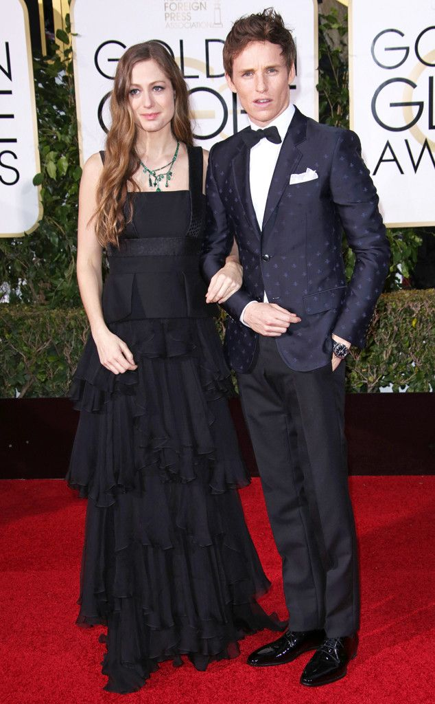 Eddie Redmayne & Wife Hannah Bagshawe Confirm They Are Expecting Their First Child on the 2016 Golden Globes Red Carpet  Hannah Bagshawe, Eddie Redmayne, Golden Globe Awards Couples