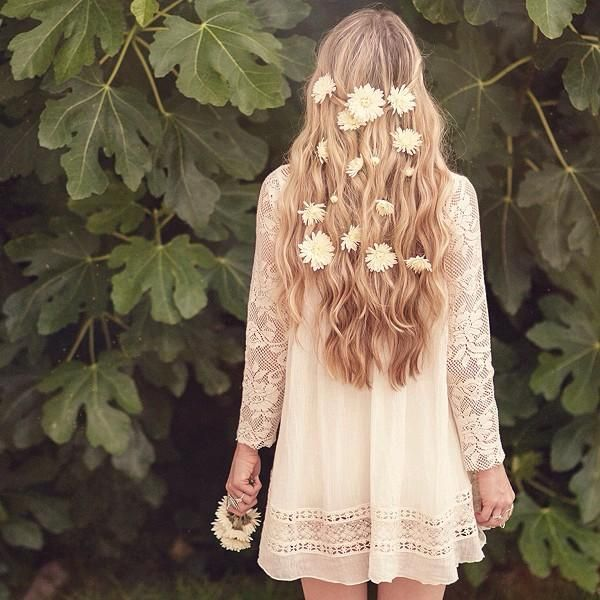 free people flowers in the hair