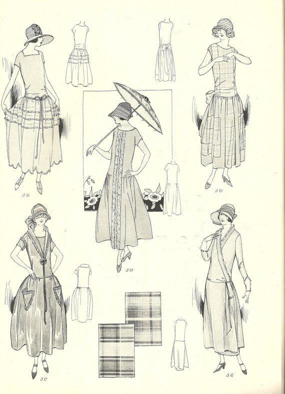 Vintage Sewing Pattern Instructions 1920s Easy Bas…