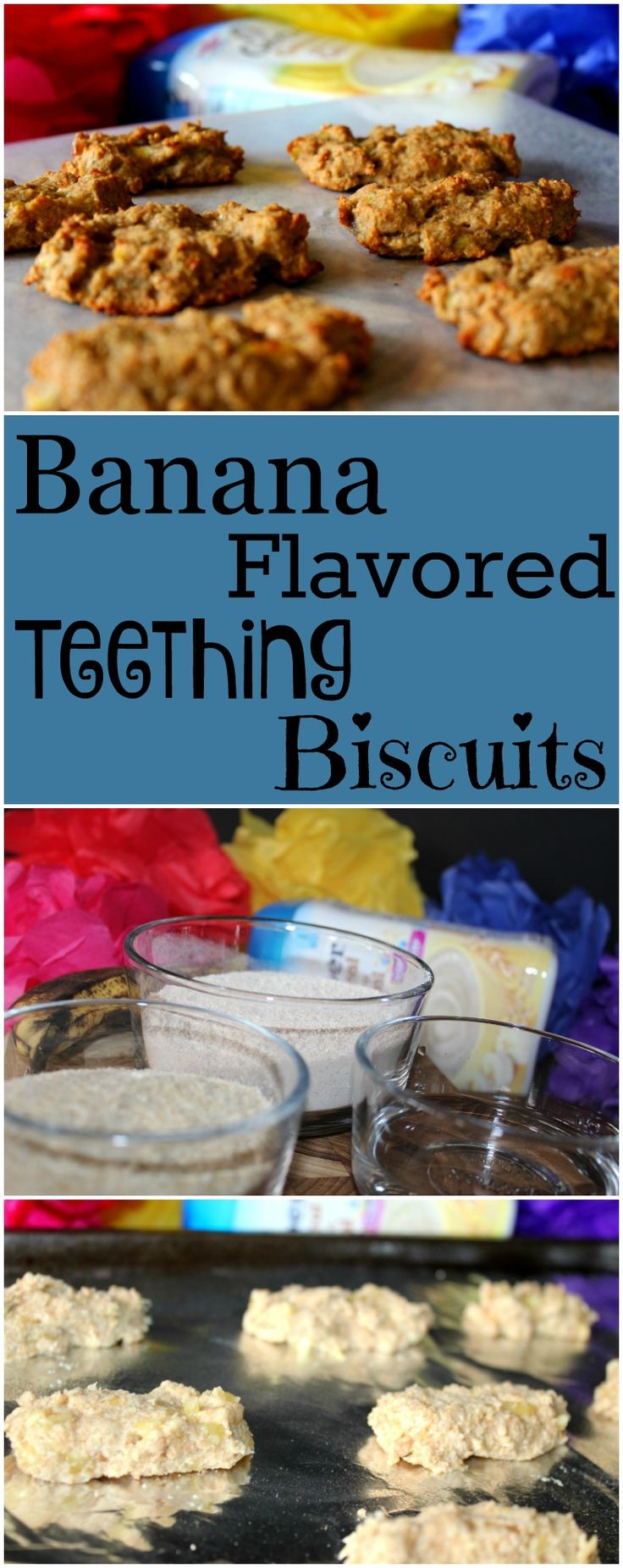 Banana Flavored Teething Biscuits Made with Gerber Cereal #CookingwithGerber #ad