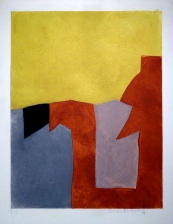 Serge Poliakoff - Composition grise, brune et jaune / Komposition in Grau, Braun und Gelb