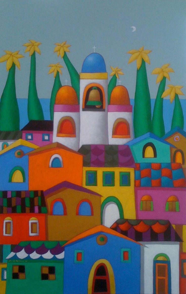 acrilico sobre lona - obra original- Coleccion Flia . Hanna - Guerrero , Guayaquil - Ecuador .