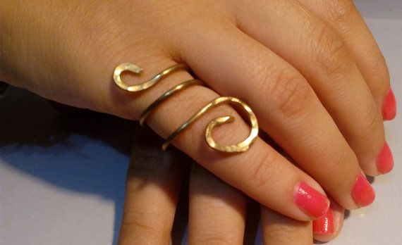 Hey, I found this really awesome Etsy listing at https://www.etsy.com/listing/245162792/gold-ring-brass-wrap-around-ring-forged